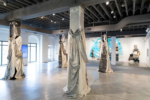 Paula Wilson: The Backward Glance at the Bemis Center for Contemporary Arts, Omaha, NE // installation view // Courtesy Bemis Center for Contemporary Arts. Photo: Colin Conces // 2017
