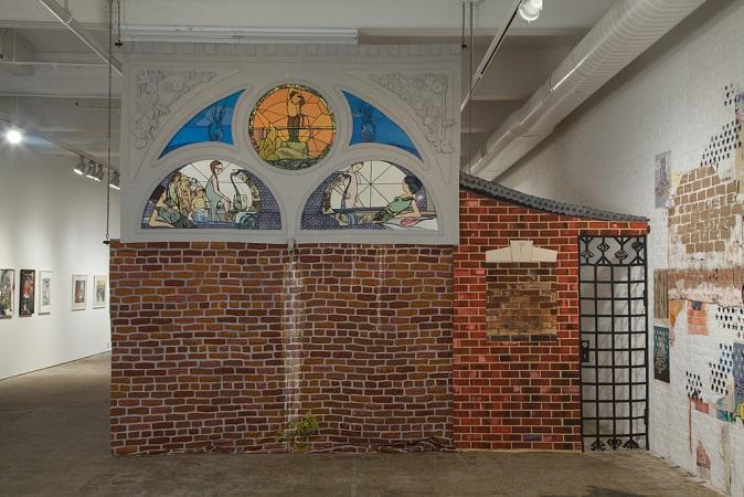 """""""Paula Wilson stainglass brick fabric workshop"""""""