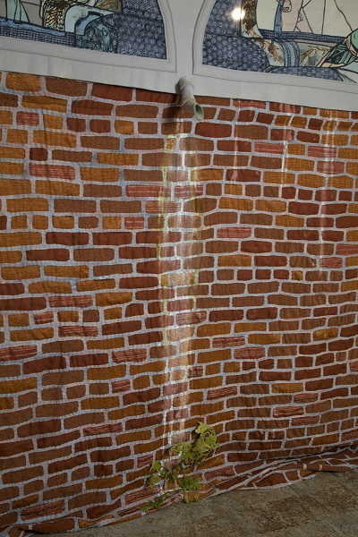 """Paula Wilson water marking brick Fabric Workshop"""