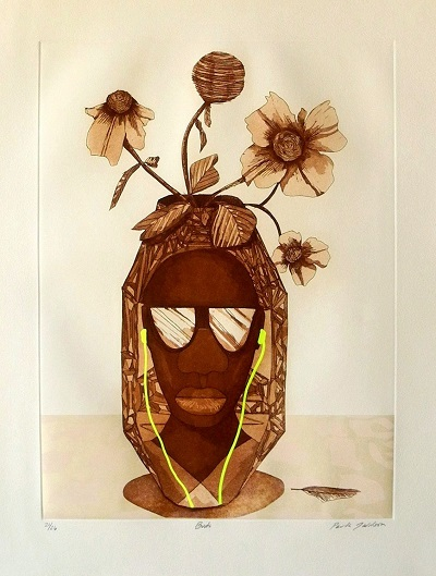 """Paula Wilson etching print"""